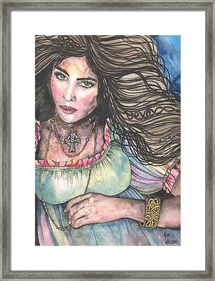 Celtic Queen Framed Print by Kim Whitton