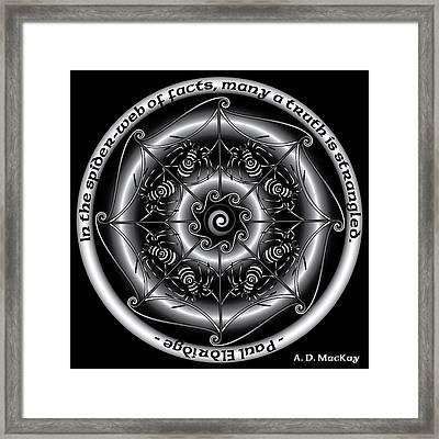 Celtic Spider Mandala Framed Print