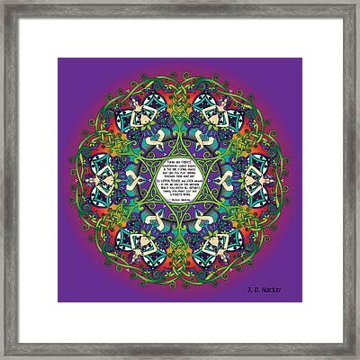 Celtic Spring Fairy Mandala Framed Print