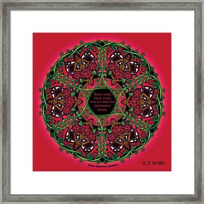Celtic Summer Fairy Mandala Framed Print by Celtic Artist Angela Dawn MacKay