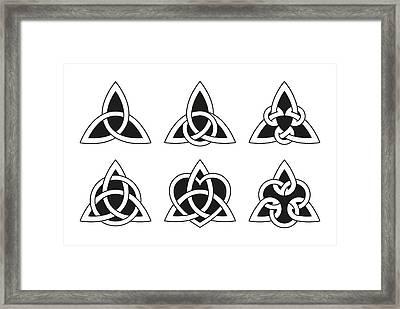 Celtic Triangle Knots Framed Print