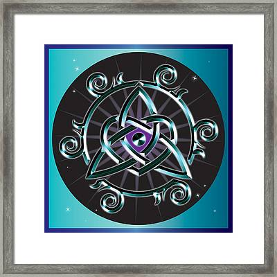 Celtic Triquetra Heart Framed Print by Ireland Calling