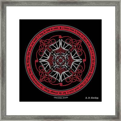 Celtic Vampire Bat Mandala Framed Print