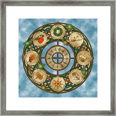 Celtic Wheel Of The Year Framed Print
