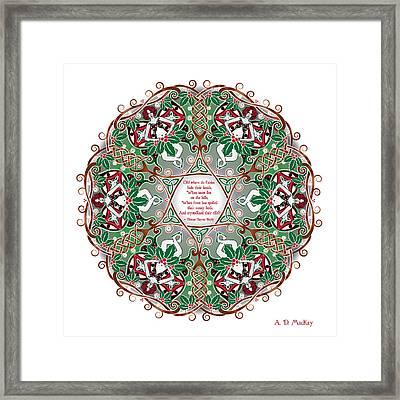 Celtic Winter Fairy Mandala Framed Print