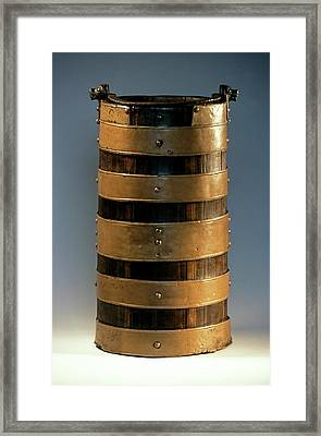 Celtic Wood Bucket Framed Print by Patrick Landmann/science Photo Library