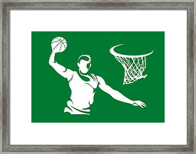 Celtics Shadow Player1 Framed Print by Joe Hamilton