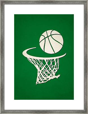 Celtics Team Hoop2 Framed Print by Joe Hamilton