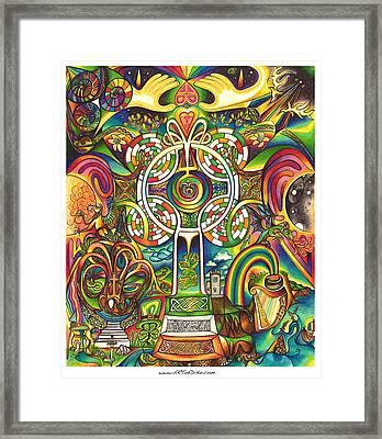 Celtross Framed Print by DiNo