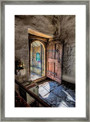 Celynnin Entrance Framed Print by Adrian Evans