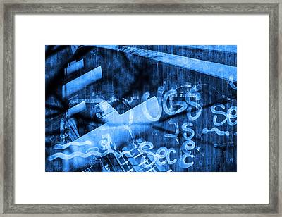 Cement Foundations And Grafiti Framed Print