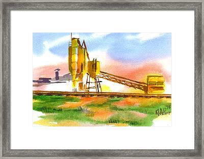 Cement Plant Across The Tracks Framed Print by Kip DeVore