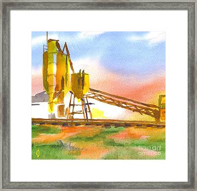 Cement Plant II Framed Print by Kip DeVore