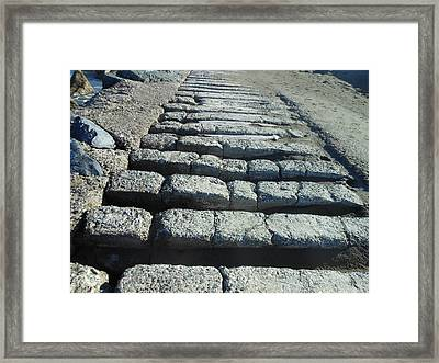 Cement Trails Framed Print by Sean Sullivan