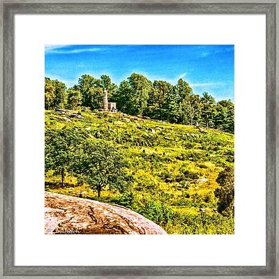 Cemetary Ridge Gettysburg Battleground Framed Print by Bob and Nadine Johnston