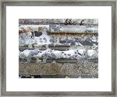 Cemetary Rock 1 Framed Print