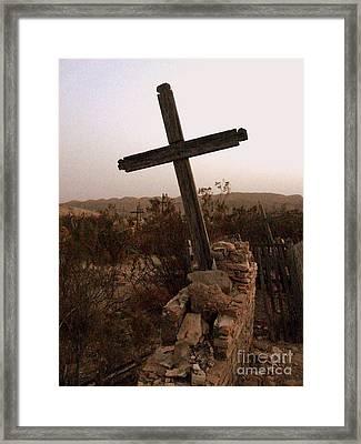 Cemetery At Dusk Framed Print by Avis  Noelle