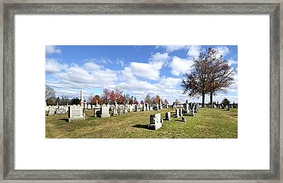 Cemetery At Gettysburg National Battlefield Framed Print by Brendan Reals