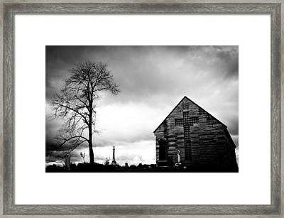 Cemetery Chapel Framed Print by Off The Beaten Path Photography - Andrew Alexander