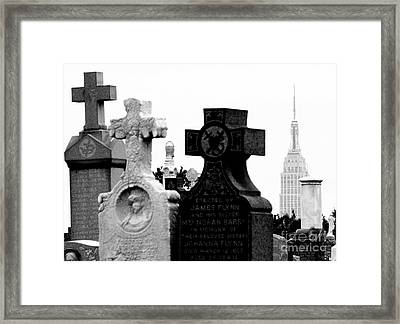 Cemetery City Framed Print by Steven Macanka