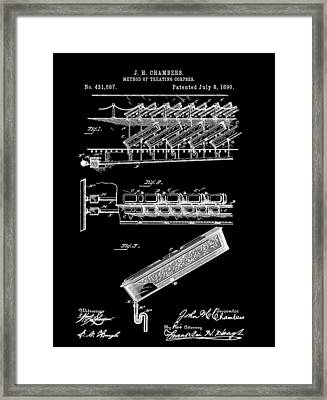 Cemetery Coffin Patent Framed Print by Dan Sproul