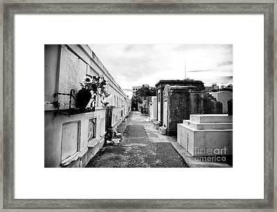 Cemetery Departed Framed Print by John Rizzuto