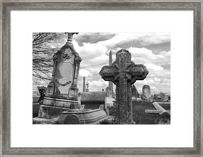 Cemetery Graves Framed Print by Jennifer Ancker