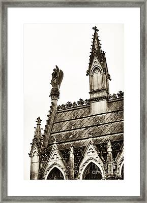 Cemetery Guardian Framed Print by John Rizzuto