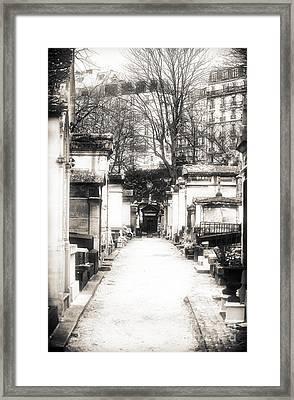 Cemetery Haze Framed Print by John Rizzuto