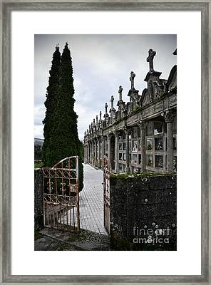Cemetery In A Small Village In Galicia Framed Print by  RicardMN Photography