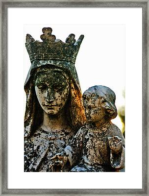 Cemetery  Framed Print by Jon Baldwin  Art