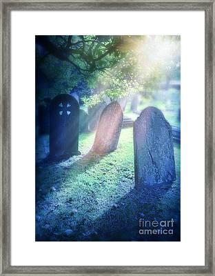 Cemetery Light Framed Print