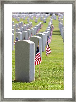 Cemetery Memorial Day Framed Print