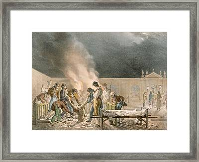 Cemetery Of Bourg Ste. Esprit, Engraved Framed Print by Antoine Jean-Baptiste Thomas