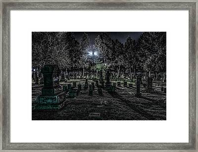 Framed Print featuring the photograph Cemetery  by Ray Congrove