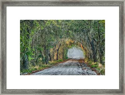 Cemetery Road Framed Print by Charles Shockley