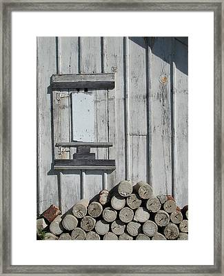 Cemetery Shed Framed Print by Joseph Yarbrough