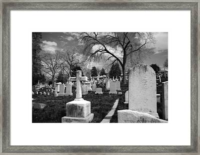 Cemetery Solitude Framed Print
