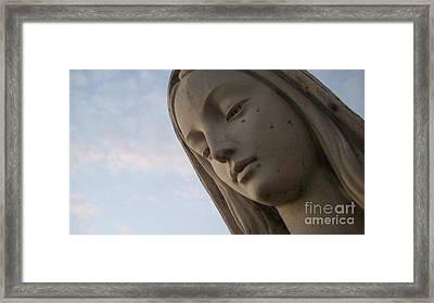 Cemetery Statue Framed Print by Justin Moore