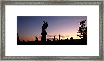 Cemetery Sunset Framed Print