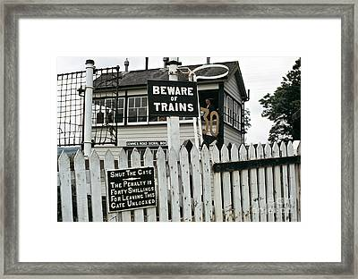Cemmes Rd Signal Box Wales 1970s Framed Print
