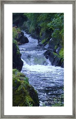 Framed Print featuring the photograph Cenarth Falls by John Williams