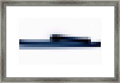 Censored Snake- Cubic Beach House Framed Print by Duwayne Washington