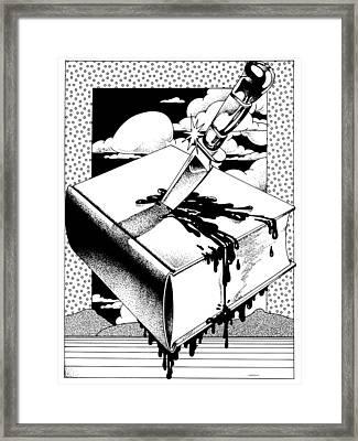 Censorship Framed Print by David Chestnutt
