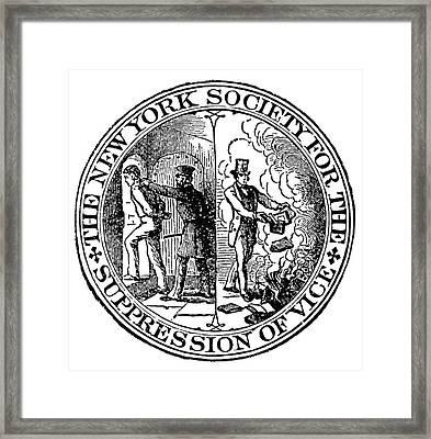 Censorship Seal, 1873 Framed Print