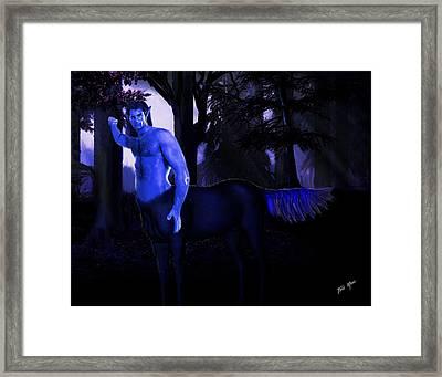 Centaur At Night Framed Print by Tray Mead