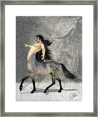 Centaur Framed Print by Quim Abella