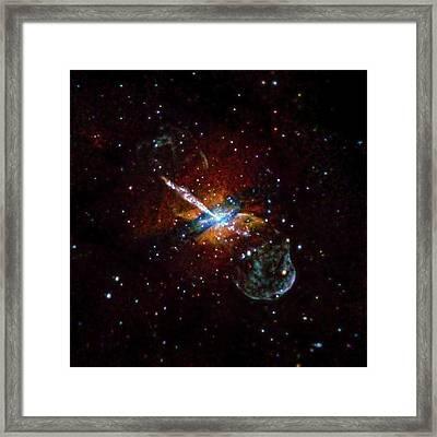 Centaurus A Framed Print by Nasa/cxc/u.birmingham/m.burke Et Al