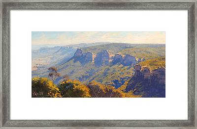 Centenial Glen Blackheath Framed Print by Graham Gercken