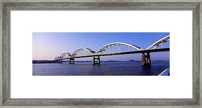 Centennial Bridge, Iowa, Illinois, Usa Framed Print by Panoramic Images